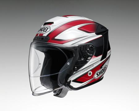 SHOEI J-FORCE4 BRILLER ヘルメット 【ブリエ TC-1 RED/WHITE 】【ショウエイ バイク用 ジェットヘルメット Jフォース4 ショーエイ】【smtb-k】
