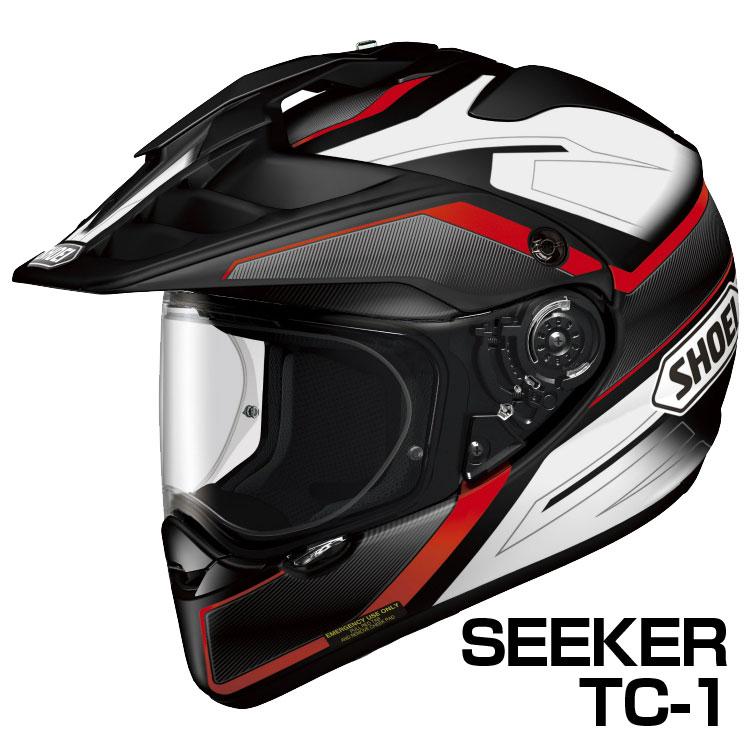 SHOEI HORNET-ADV ヘルメット SEEKER 【TC-1レッド×ブラック】【ショウエイ バイク用 オフロードヘルメット ショーエイ ホーネットADV シーカー】【smtb-k】