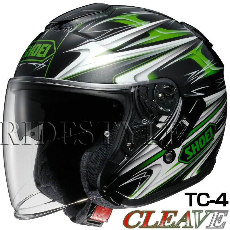 SHOEI J-Cruise ヘルメット CLEAVE【TC-4 グリーン×ブラック】【ショウエイ バイク用 ジェットヘルメット ショーエイ Jクルーズ クリーブ】【smtb-k】