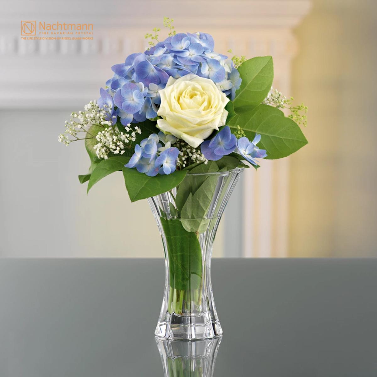 【ナハトマン公式】<サファイア> ベース 18cm(1個入)80719【ラッピング無料】Nachtmann 花器 花瓶:リーデル店