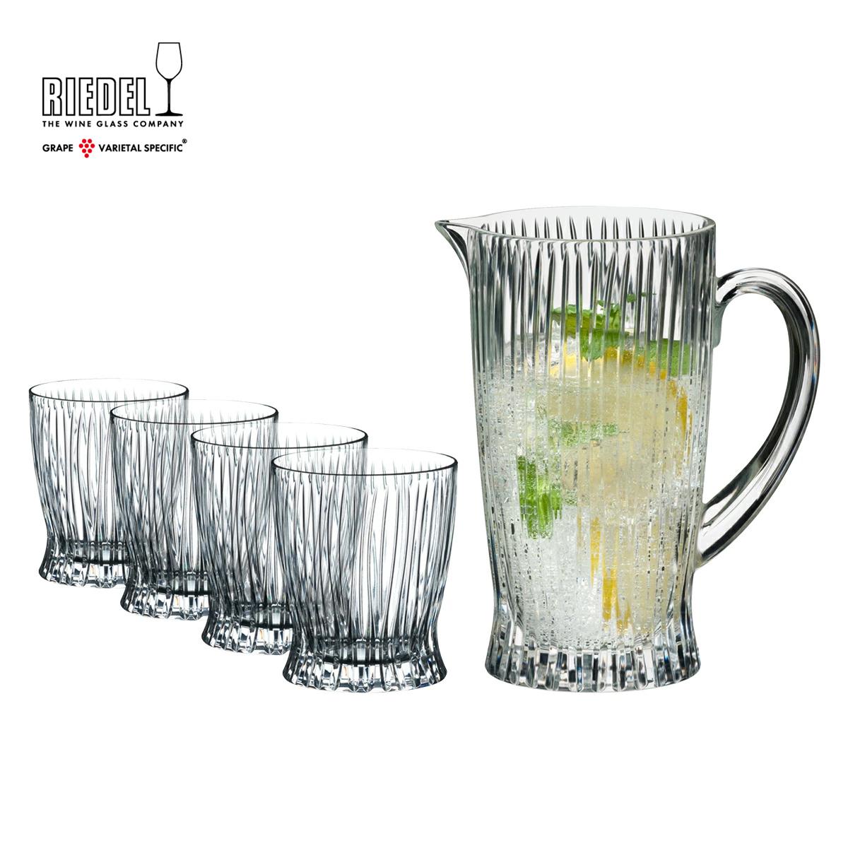 【リーデル公式】<タンブラーコレクション> コールド・ドリンク・セット(グラス4個+ピッチャー1個)5515/23S1【ラッピング無料】RIEDEL タンブラー ステムレス カクテル Whisky