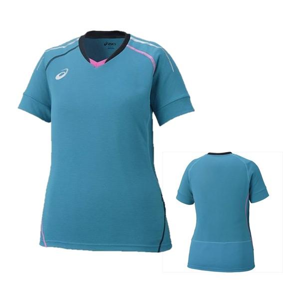 アシックス 当店は最高な サービスを提供します 絶品 W'S ブレード プラシャツ HS XW6223-37 バレーボール XL レディース ウィメンズ グリニッシュブルー