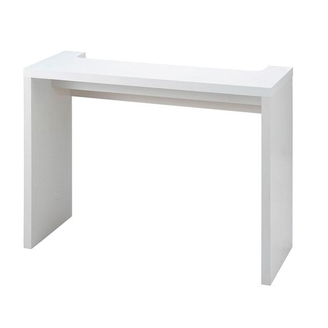カウンターテーブル カフェテーブル ハイテーブル バーテーブル バーカウンター 角型 ホワイト ボトル 作業台 ホーム カフェ おしゃれ リフル