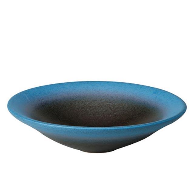信楽焼きの手洗い鉢「青ボカシ手洗鉢」 伝統工芸品 しがらき 陶器 陶製 和風 インテリア 和 ボウル ボール 洗面器 手洗い器 モダン 手作り DIY 店舗 プレゼント 日本製 通販 おしゃれ リフル