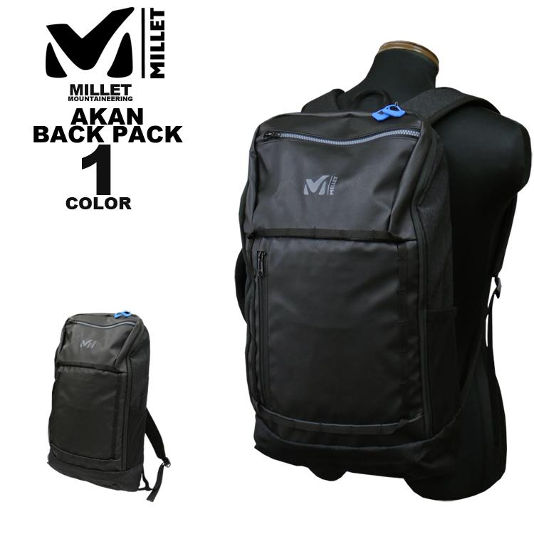 ミレー MILLET バックパック BACK AKAN メンズ 20 BACK PACK アカン 20L 20L リュック ブラック 黒 メンズ, シベツシ:f8ee5594 --- sunward.msk.ru