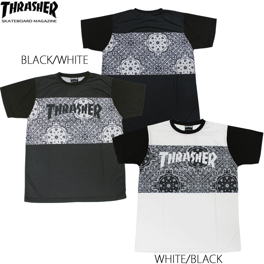 THRASHER BANDANA PATTERN T-SHIRTS
