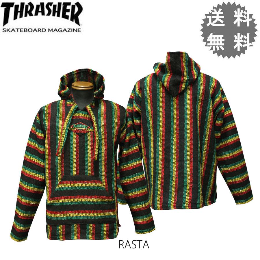 surassha THRASHER墨西哥的Parker风雪大衣PAKA bahashatsurasutamenzu OG DIAMOND MEXICAN BAJA HOODIE
