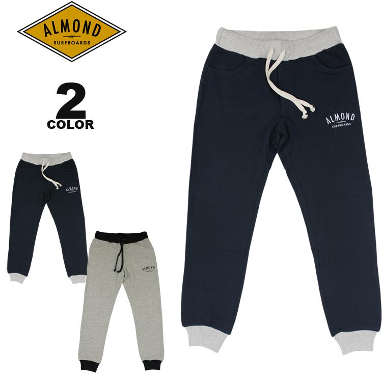アーモンドサーフボードデザイン スエットパンツ Almond Surfboards & Design FINE SURFING EMB SWEAT PANTS 裏毛 全2色 S-L メンズ