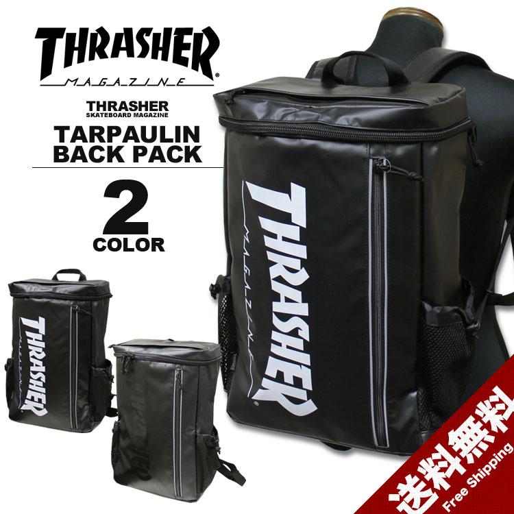 スラッシャー THRASHER トップオープン リュック MAG LOGO TARPAULIN TOP OPEN BACK PACK デイバック メンズ レディース バックパック ブラック