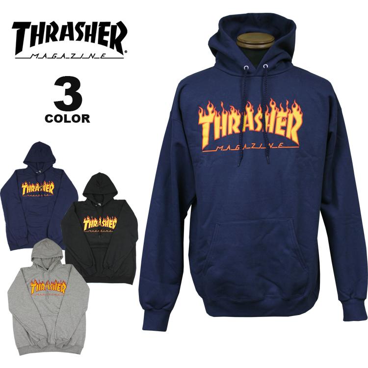 スラッシャー パーカー THRASHER FLAME HOODIE SWEAT PARKA プルオーバー パーカ スエット インポート メンズ レディース 裏起毛スウェット 全3色 S-XL【公式】