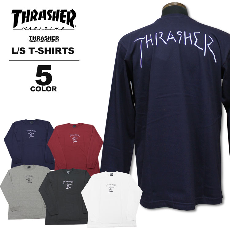 6b97b70d7c9929 THRASHER MAGAZINE Outlined Skateboard T-Shirt BLACK S M L or XL Rock Punk  Other Skateboarding