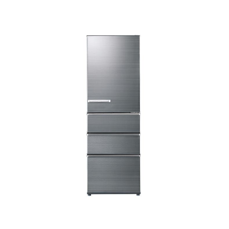 【送料無料・標準設置込】 冷蔵庫 アクア AQR-SV38JL チタニウムシルバー 375L 左開き 4ドア 旬鮮チルド グリップハンドル 新品 送料無料