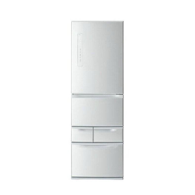 冷蔵庫 東芝 GR-R41G シルバー 411L 右開き 5ドア ライト照明 自在棚 スライド式 自在ドアポケット 浄水フィルター付給水タンク 卵収納数14個