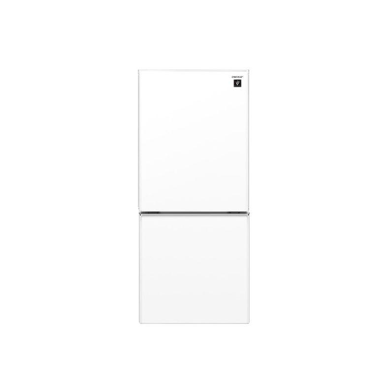 【送料無料・標準設置込】 冷蔵庫 シャープ SHARP SJ-GD14F クリアホワイト 137L 2ドア つけかえどっちもドア プラズマクラスター 新品 送料無料