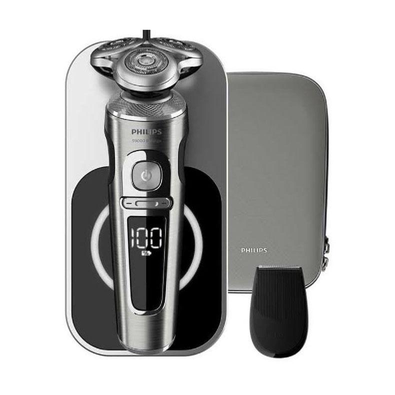 ウェット&ドライ電気シェーバー メンズシェーバー フィリップス SP9861/13 シルバー系 S9000プレステージ 3枚刃 充電式 お風呂 水洗い 8方向130°可動ヘッド