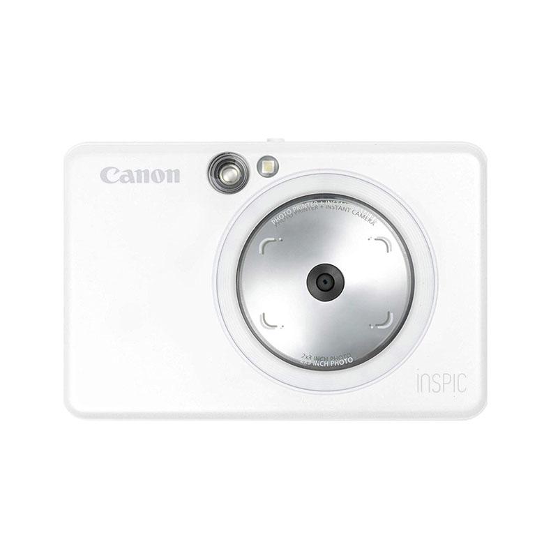インスタントカメラプリンター ミニフォトプリンター キヤノン Canon ZV123PW zv123pw パールホワイト カメラ機能 小型軽量 188g Bluetooth 新品 送料無料