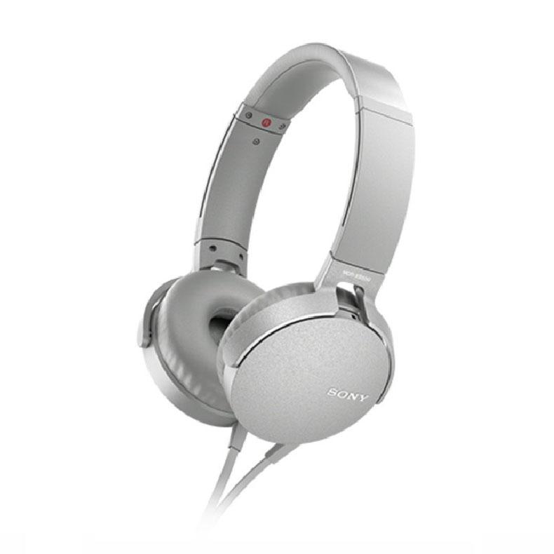 ステレオヘッドホン ソニー SONY MDR-XB550AP ホワイト 重低音サウンド 装着感 イヤーパッド 低反撥ウレタンフォーム 気密性 スマートフォン 新品 送料無料