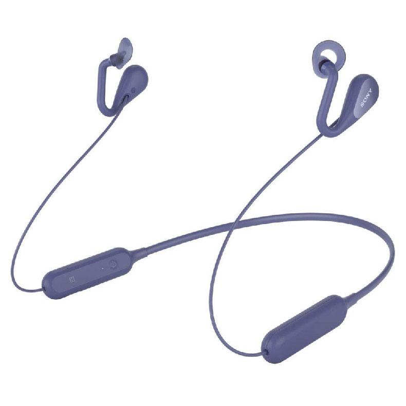 オープンイヤーワイヤレスステレオヘッドセット ソニー SONY SBH82D ブルー 耳をふさがない 音導管設計 音漏れ低減 7.5時間連続音楽再生可能 新品 送料無料