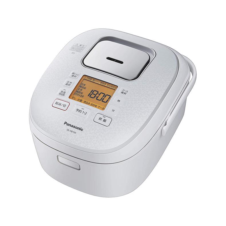 炊飯器 IHジャー炊飯器 パナソニック Panasonic SR-HB189-W sr-hb189-w ホワイト 1升炊き ダイヤモンド銅釜 全面発熱5段IH 旨み熟成浸水 新品 送料無料