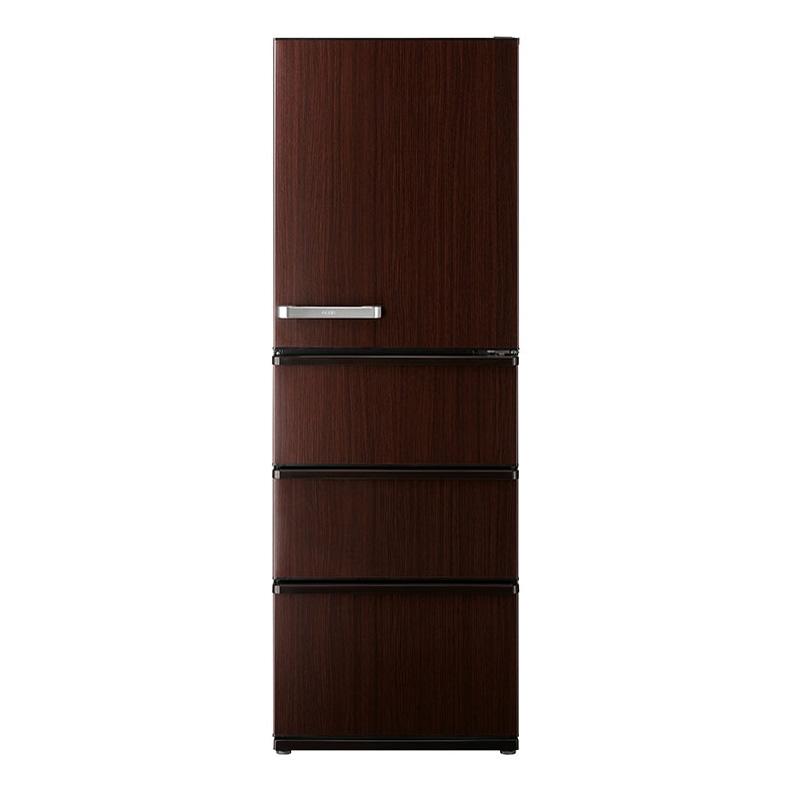 【送料無料・標準設置込】 冷蔵庫 アクア AQUA AQR-V43J aqr-v43j ダークウッドブラウン 4ドア 430L 右開き おいシールド冷凍 大容量冷凍室 新品 送料無料