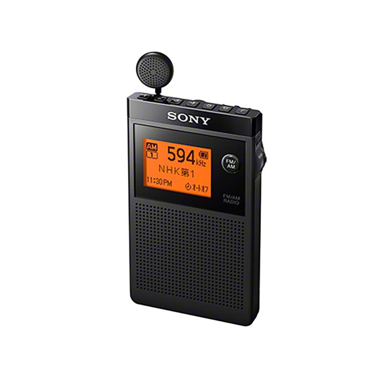 ラジオ 名刺型ラジオ ソニー SONY SRF-R356 srf-r356 ブラック FMステレオ AM 2バンド対応 ワイドFM 巻き取り式 イヤーレシーバー 最長100時間 新品 送料無料