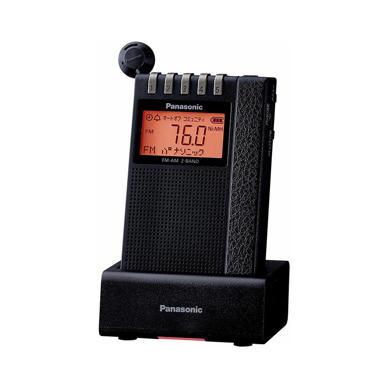 ラジオレコーダー FM AM 2バンドレシーバー パナソニック Panasonic RF-ND380RK-K rf-nd380rk-k ブラック ワイドエリアバンク 充電台 スピーカー 新品 送料無料