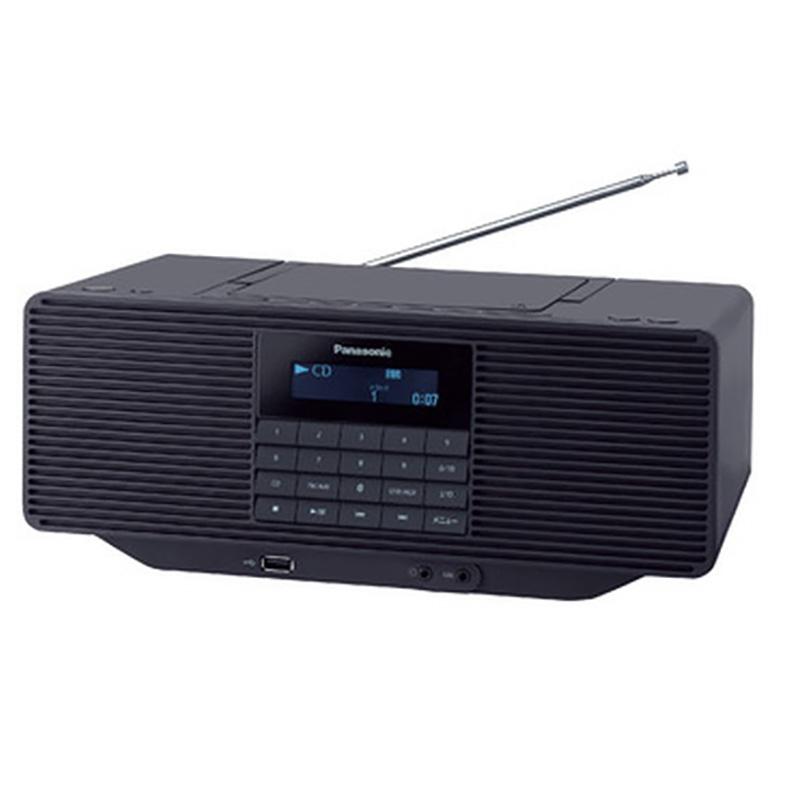 ポータブルステレオ CDシステム パナソニック Panasonic RX-D70BT-K rx-d70bt-k ブラック Bluetooth ラジオ USBメモリー 大型スピーカー 快聴音 新品 送料無料