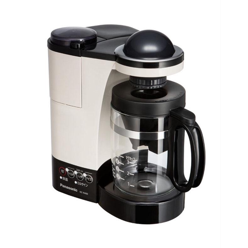 コーヒーメーカー パナソニック Panasonic NC-R400 カフェオレ 680ml ドリップコーヒー Wドリップ 蒸らして一気ドリップ コク ミルクアレンジ 中細挽き 粗挽き