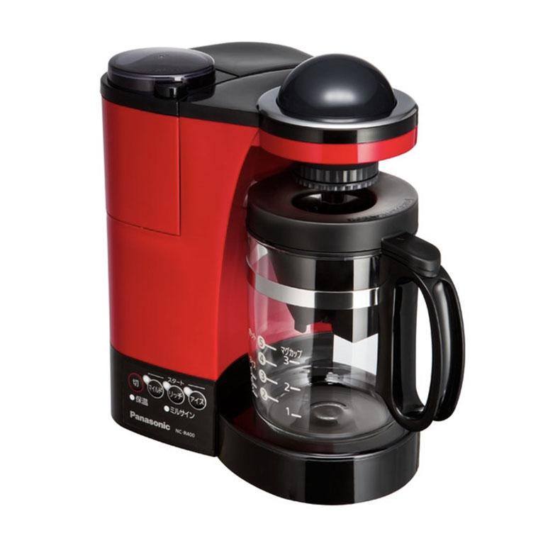 コーヒーメーカー パナソニック Panasonic NC-R400 レッド 680ml ドリップコーヒー Wドリップ 蒸らして一気ドリップ コク ミルクアレンジ 中細挽き 粗挽き