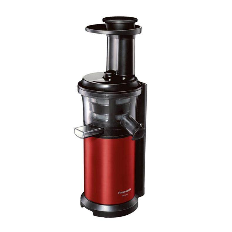 ジューサー ミキサー パナソニック Panasonic MJ-L400 メタリックレッド 低速ジューサー ビタミンサーバー 低速圧縮絞り ジュースストッパー