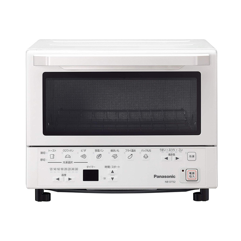 トースター オーブントースター コンパクトオーブン パナソニック Panasonic NB-DT52 nb-dt52 ホワイト トースト 薄切 厚切コース 冷凍キー 新品 送料無料