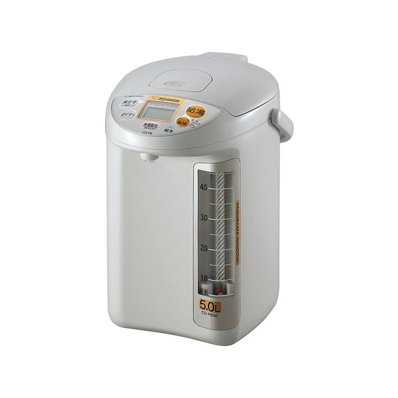 マイコン沸とう電動ポット 電気ポット 象印 ZOJIRUSHI CD-PB50-HA cd-pb50-ha グレー 5.0L 給水お知らせブザー 給水ランプ パノラマウインドウ 新品 送料無料