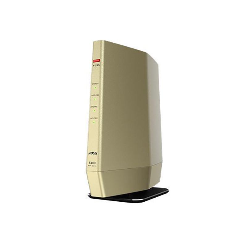 Wi-Fiルーター バッファロー BUFFALO WSR-5400AX6-CG wsr-5400ax6-cg シャンパンゴールド Wi-Fi 6対応 プレミアムモデル バンドステアリングLite 新品 送料無料