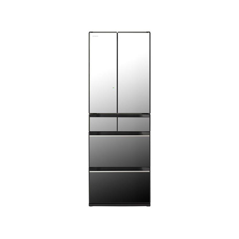 冷蔵庫 日立 HITACHI R-HX52N-X r-hx52n-x クリスタルミラー 520L フレンチドア 6ドア まるごとチルド 特鮮氷温ルーム 新鮮スリープ野菜室 新品 送料無料