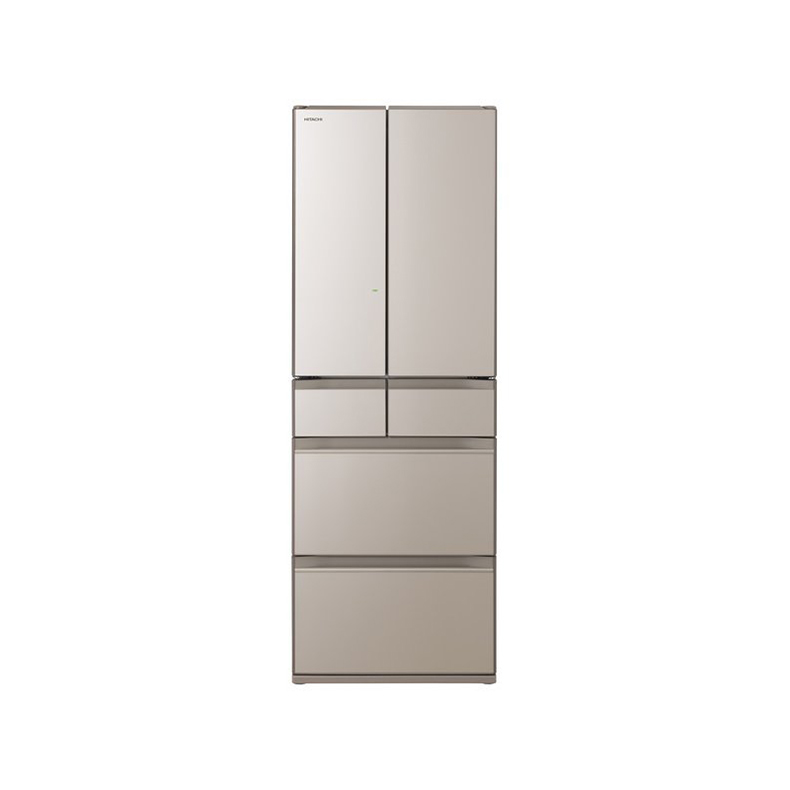 冷蔵庫 日立 HITACHI R-HW48N-XN r-hw48n-xn クリスタルシャンパン 475L フレンチドア 6ドア 特鮮氷温ルーム 新鮮スリープ野菜室 デリシャス冷凍 新品 送料無料