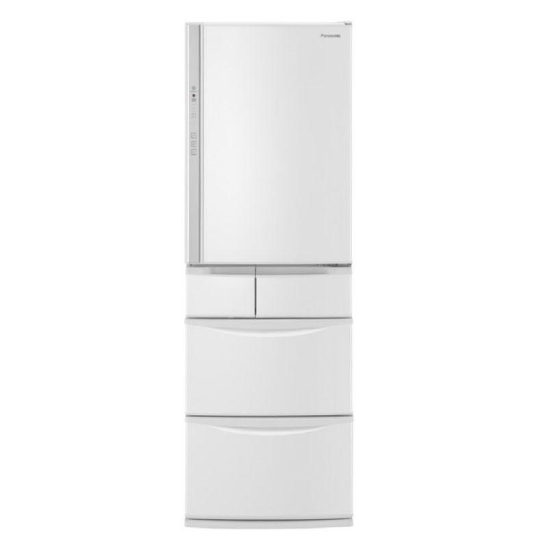 冷蔵庫 パナソニック Panasonic NR-EV41S5 ハーモニーホワイト 411L 右開き 5ドア Wシャキシャキ野菜室 ワンダフルオープン エコナビ ナノイー