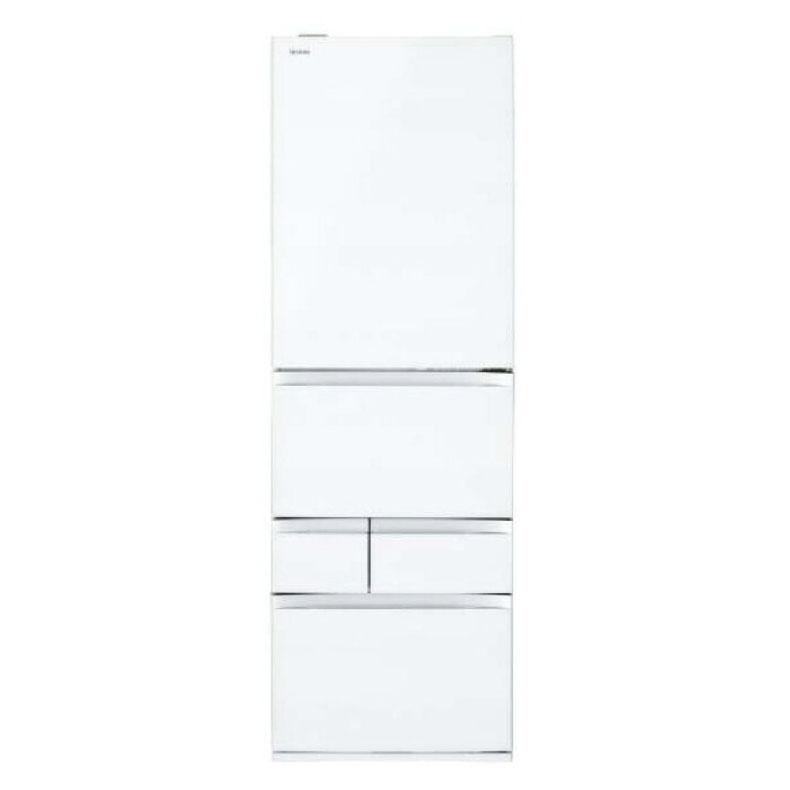 冷蔵庫 パナソニック Panasonic NR-E415PV スノーホワイト 406L 右開き 5ドア ナノイー ワンダフルオープン 微凍結パーシャル シャキシャキ野菜室 エコナビ