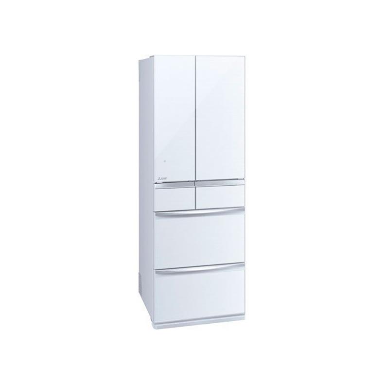 冷蔵庫 三菱 MITSUBISHI MR-MX46F-W mr-mx46f-w クリスタルホワイト 455L フレンチドア 6ドア 切れちゃう瞬冷凍A.I 氷点下ストッカー 新品 送料無料