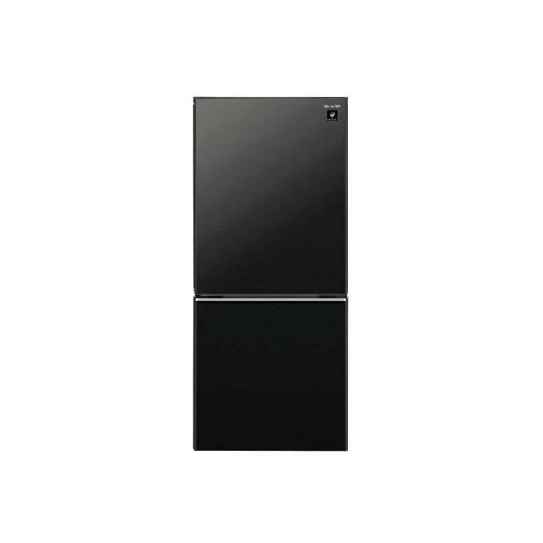 【送料無料・標準設置込】 冷蔵庫 シャープ SHARP SJ-GD14F ピュアブラック 137L 2ドア つけかえどっちもドア プラズマクラスター 新品 送料無料