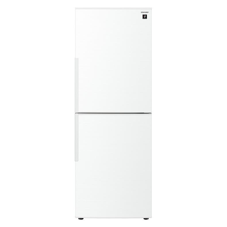 【送料無料・標準設置込】 冷蔵庫 シャープ SHARP SJ-PD28F sj-pd28f ホワイト系 2ドア 280L 右開き 大容量冷凍室 プラズマクラスター 冷気除菌 新品 送料無料