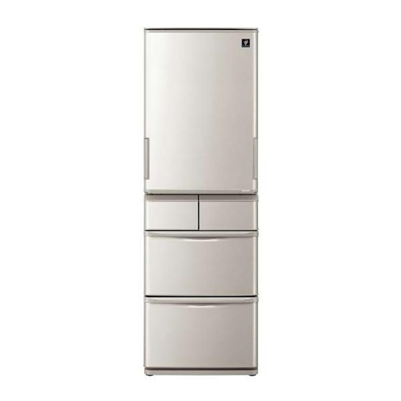冷蔵庫 シャープ SHARP SJ-W412F-S sj-w412f-s シルバー系 412L どっちもドア 5ドア 新鮮冷凍 おいそぎ冷凍 プラズマクラスター 節電25 新品 送料無料