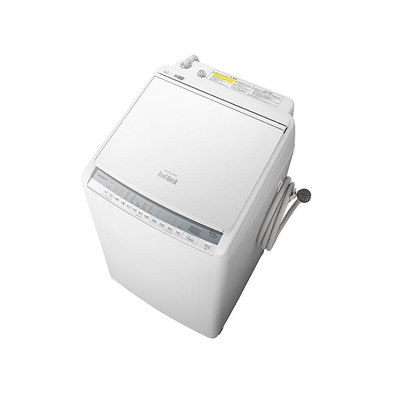 タテ型洗濯乾燥機 洗濯機 日立 HITACHI BW-DV80F bw-dv80f ホワイト 洗濯8.0kg 乾燥4.5kg ビートウォッシュ AI ナイアガラ ビート洗浄 温水 新品 送料無料