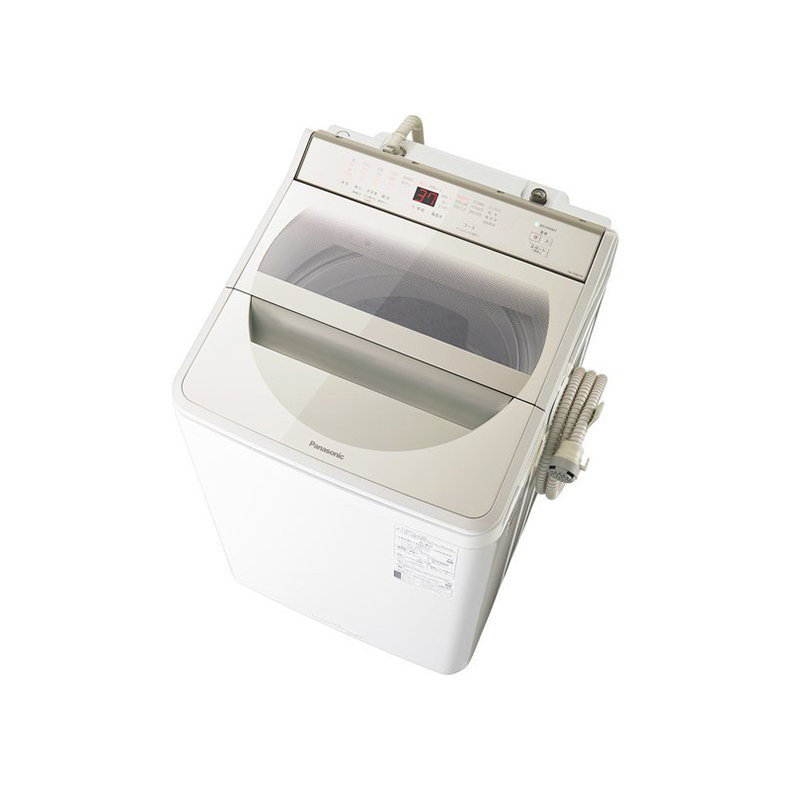 洗濯機 全自動洗濯機 パナソニック Panasonic NA-FA80H8-N na-fa80h8-n シャンパン 洗濯8kg 泡洗浄 ビッグサークル ECONAVI 送風乾燥 新品 送料無料
