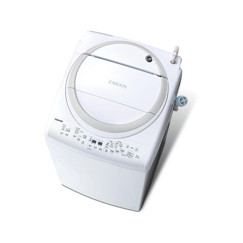 洗濯機 タテ型洗濯乾燥機 東芝 TOSHIBA AW-8V9 aw-8v9 グランホワイト 洗濯8kg 乾燥4.5kg ZABOON 浸透ザブーン洗浄 ecoモード ほぐせる脱水 新品 送料無料