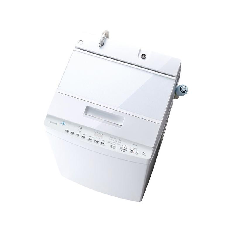 洗濯機 全自動洗濯機 東芝 TOSHIBA AW-7D9 W aw-7d9 w グランホワイト 洗濯7lg ZABOON ウルトラファインバブル洗浄 低振動 低騒音 ほぐせる脱水 新品 送料無料