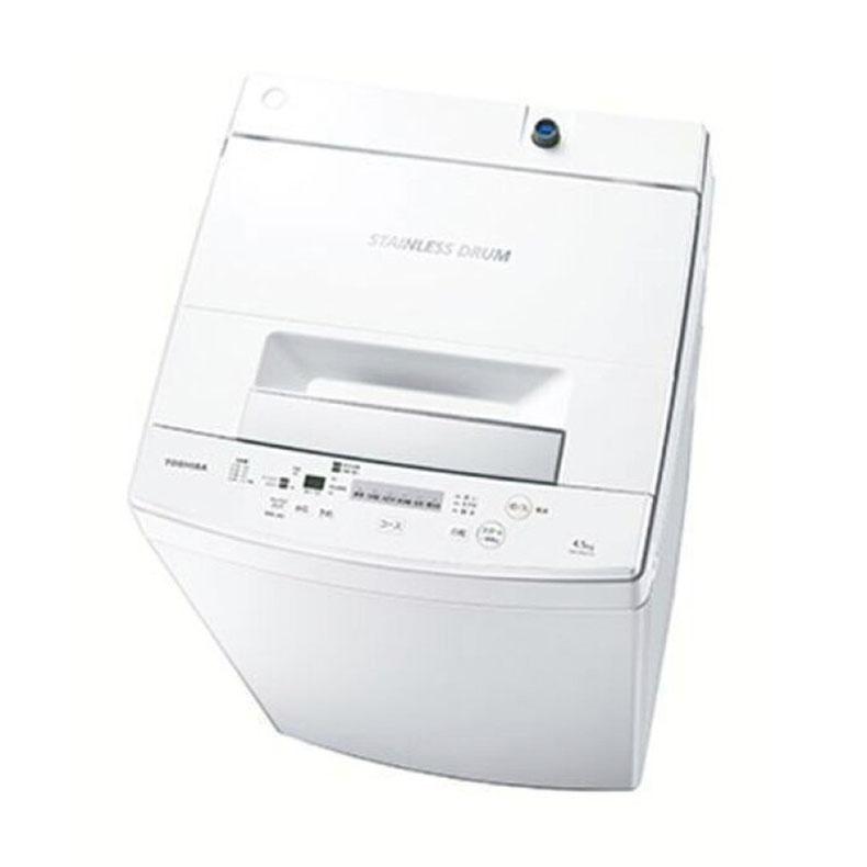 【送料・標準設置費用込】全自動洗濯機 東芝 TOSHIBA AW-45M7 ピュアホワイト 洗濯4.5kg