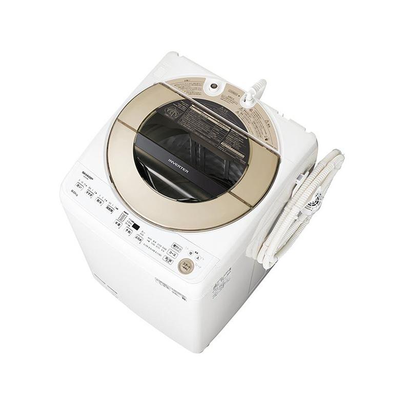 洗濯機 全自動洗濯機 シャープ SHARP ES-GV10E-T es-gv10e-t ブラウン系 10kg 穴なし槽 節水 ペット用衣類洗い ガンコ汚れコース 新品 送料無料