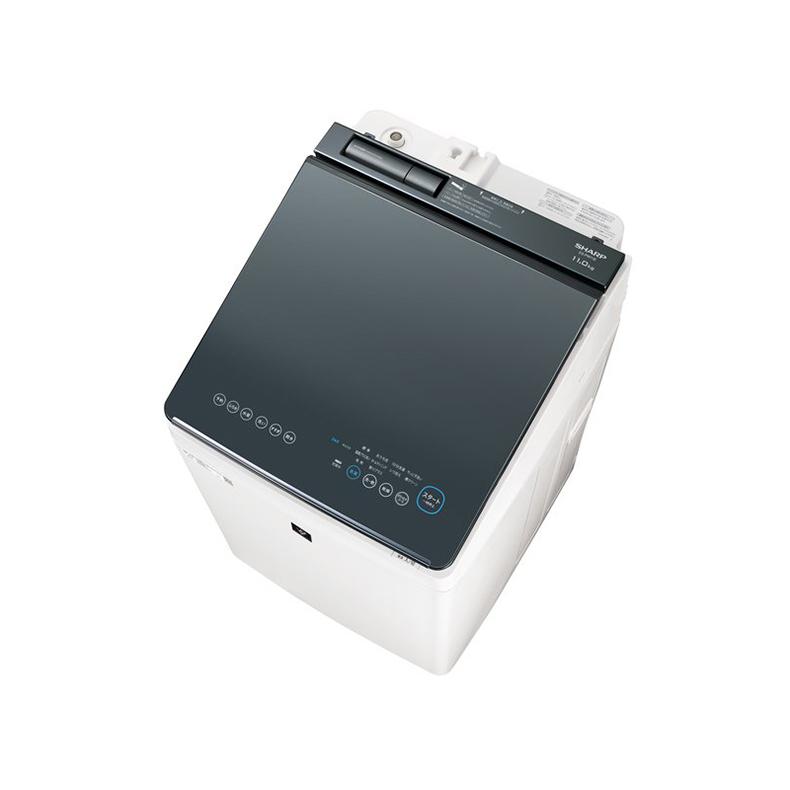 タテ型洗濯乾燥機 洗濯機 シャープ SHARP ES-PW11E es-pw11e シルバー系 洗濯11.0kg 乾燥6.0kg COCORO WASH AI 穴なし槽 無線LAN 巻き上げ水流 新品 送料無料