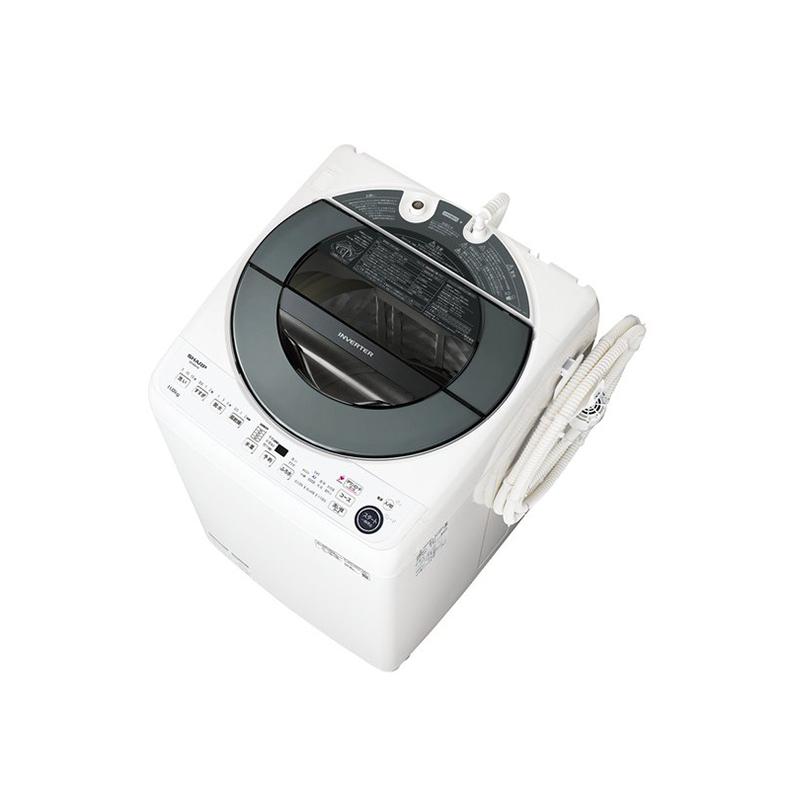 全自動 洗濯機 シャープ SHARP ES-GW11E es-gw11e シルバー系 洗濯11kg COCORO WASH AIoT 穴なし槽 風乾燥 槽クリーン 槽洗浄 無線LAN 新品 送料無料