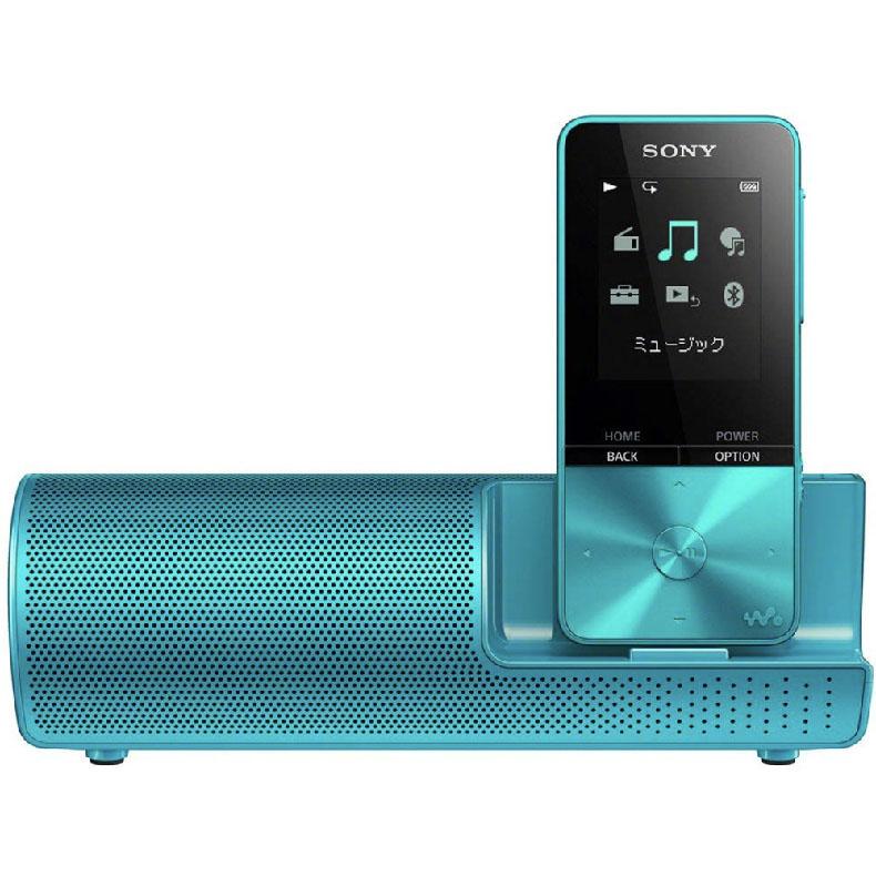 オーディオプレーヤー ウォークマン ソニー SONY NW-S315K ブルー Sシリーズ スピーカー用AC電源アダプター付属 コンパクト スリム 新品 送料無料